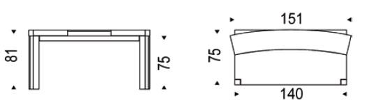 Diagrama de escritorio de diseño Davinci de Cattelan Italia