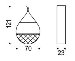 Diagrama de portabotellas Drop de Cattelan Italia