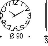 Medidas reloj Moment
