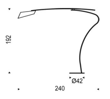 Diagrama de lámpara de suelo Flag de Cattelan Italia