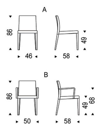 Diagrama de silla Helena de Cattelan Italia
