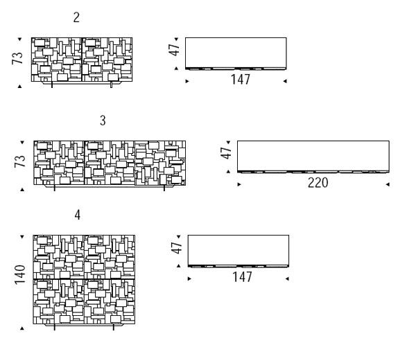 Diagrama de aparador Labyrinth de Cattelan Italia