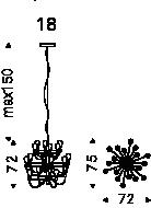 Medidas lámpara Poseidon modelo 1