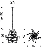 Medidas lámpara Poseidon modelo 2