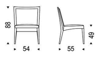Diagrama de silla Melissa de Cattelan Italia