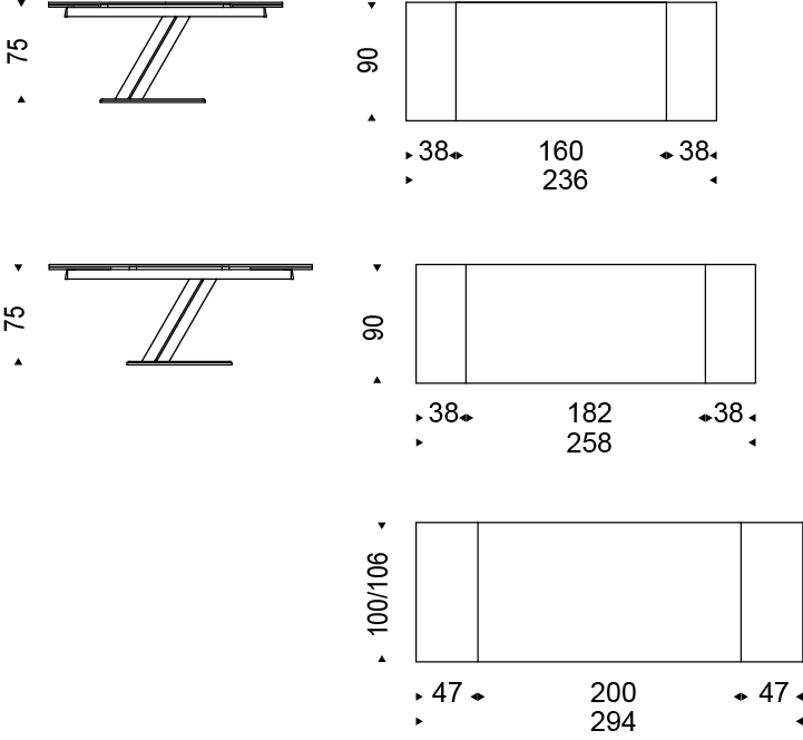 Medias mesa Zeus Keramik