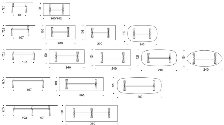 Mesa de cocina x3 cattelan italia muebles online - Mesas de estudio a medida ...