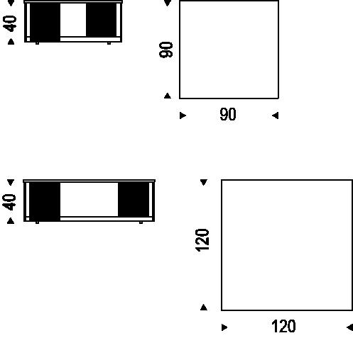 Medidas mesita Lothar