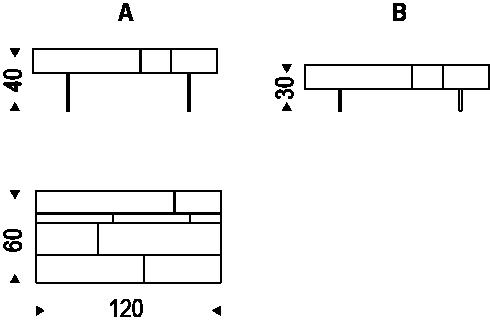 Medidas mesita Lingotto