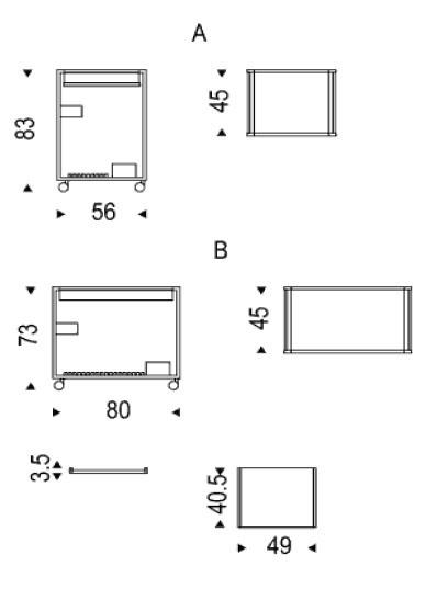 Diagrama de carrito bar Mojito de Cattelan Italia