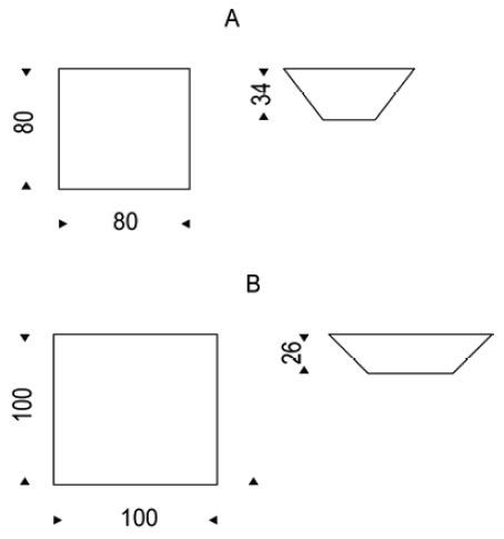 Diagrama de mesa de centro Pitágora de Cattelan Italia
