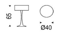 Diagrama de lámpara de mesa Pluto de Cattelan Italia