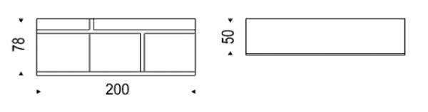 Diagrama de aparador Prisma de Cattelan Italia