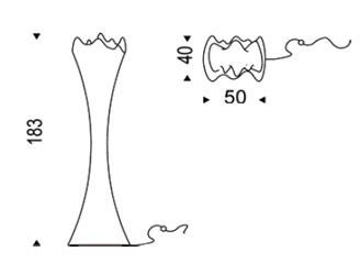 Diagrama de lámpara perchero Sipario de Cattelan Italia