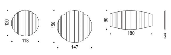 Diagrama de espejo Stripes de Cattelan Italia