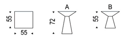Diagrama mesita Theo de Cattelan Italia