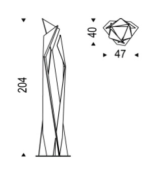 Diagrama de lámpara de suelo Thriller de Cattelan Italia