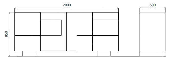 Diagrama aparador Hymaa de Clara Home