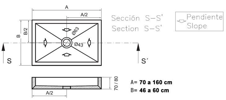Lavabo de ba o basic silestone for Medidas lavabo