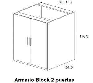 Diagrama armario Block Aneto de Dissery