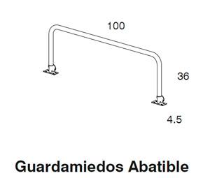 Diagrama guardamiedos cama Aneto de Dissery