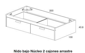 Dormitorio juvenil aneto dissery dormitorios juveniles for Dimensiones cama nido