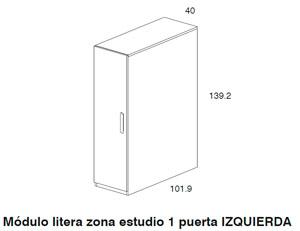Diagrama armario módulo litera Block de Dissery