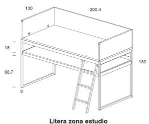 Diagrama litera y zona de estudio Block de Dissery