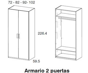 Diagrama armario Closet de Dissery