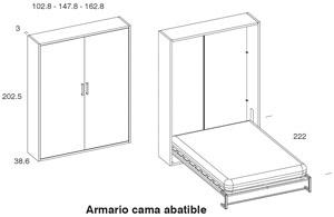 Diagrama cama abatible Closet de Dissery