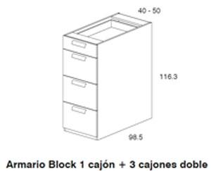 Diagrama armario cajonera Coral de Dissery