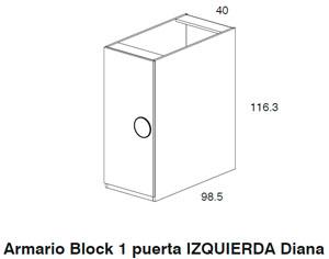 Diagrama armario izquierda Coral de Dissery