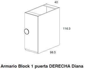 Diagrama armario derecha Coral de Dissery