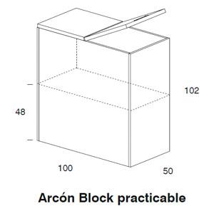 Diagrama arcón practicable Coral de Dissery