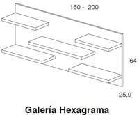 Diagrama galería Hexagrama de Dissery