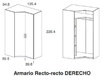 Diagrama armario Monza de Dissery