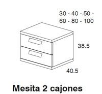 Diagrama mesa auxiliar Monza de Dissery