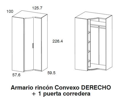 Diagrama armario rincón dormitorio Red de Dissenia