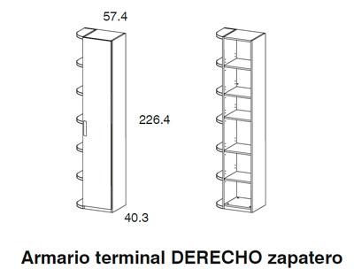 Diagrama armario terminal dormitorio Red de Dissenia