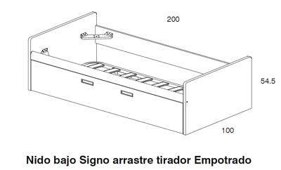 Dormitorio juvenil cabernet dissery muebles juveniles for Dimensiones cama nido