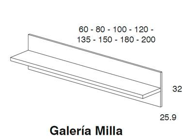 Diagrama galería Milla dormitorio Red de Dissenia