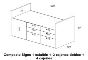 Diagrama cama Spacios de Dissery