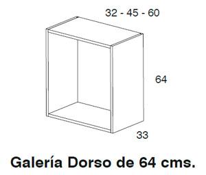 Diagrama galería Dorso 64x32 cm y 64x60 cm de Dissery