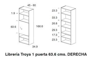 Diagrama librerías Troya derecha de Dissery