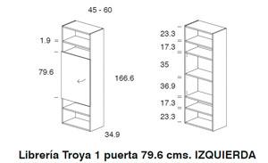 Diagrama librería Troya izquierda de Dissery