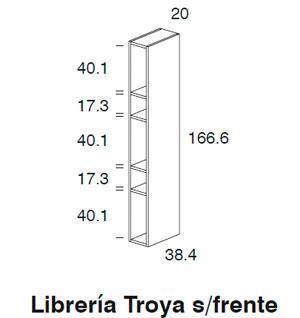 Diagrama librería Troya sin frente de Dissery