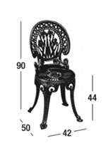 Medidas silla Narcisi Fast sin brazos