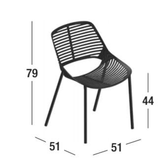 Medidas de la silla Niwa de Fast