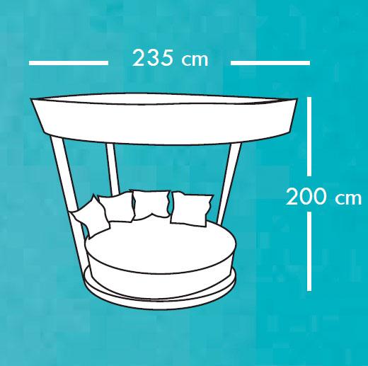 Diagrama tumbona Basket de Apyou