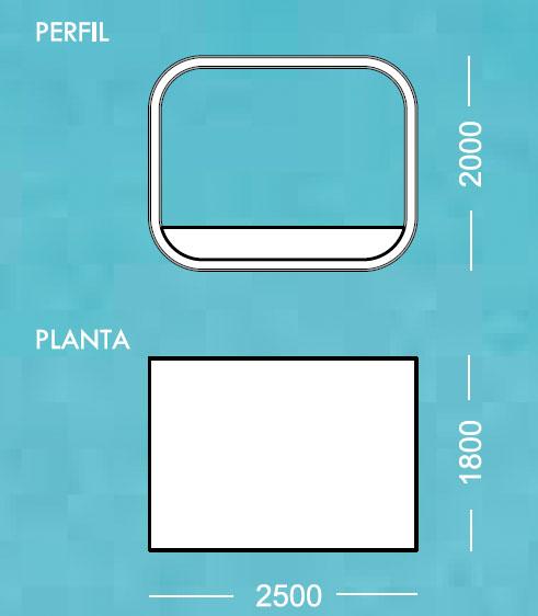 Diagrama tumbona Soft de Apyou